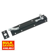Tower Necked Gate Bolt Black 164mm