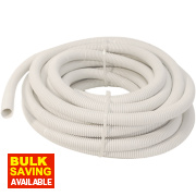 Tower Corrugated Conduit White 20mm x 10m