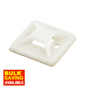 2-Way Adhesive Base Natural 25 x 25mm Pack of 100