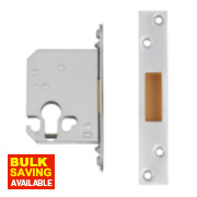 Securefast Euro Cylinder Deadlock Satin Chrome Plated