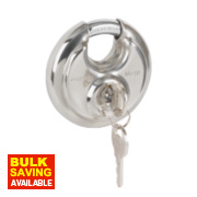 Master Lock Disc Keyed Alike Padlock Stainless Steel 70mm