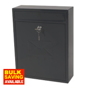 Sterling Compact Post Box Black