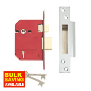 Union BS 5-Lever Mortice Sashlock Stainless Steel 3