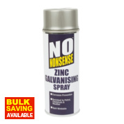 No Nonsense Zinc Galvanising Spray Paint Silver 400ml