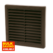 Manrose Louvre Vent Brown 125 x 160mm