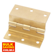 Eclipse Stormproof Hinge Self-Colour Brass 55 x 63mm Pack of 2