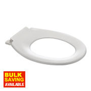 Carrara and Matta Kensey StaTite Toilet Seat Thermoplastic White