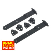 Gate Hinge Reversible Black 30 x 305 x 150mm Pack of 2