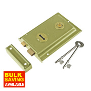 Century Rim Sash Lock Brass 150 x 100mm