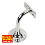 Handrail Bracket Polished Chrome 65mm