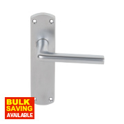 Serozzetta Uno Lever on Backplate WC Pair Satin Chrome