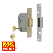 ERA 5-Lever Mortice Deadlock Satin Nickel 2½