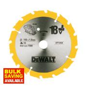 DeWalt 165x20mm 16T TCT Circular Saw Blade
