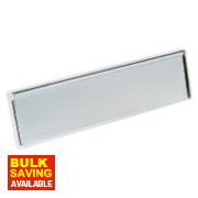 Insulated Letter Plate Chrome 292 x 76mm