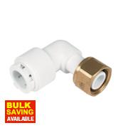 FloPlast Flo-Fit Bent Tap Connector 15mm x ½