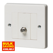 Crabtree Capital Satellite Socket White