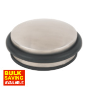 Dome Weight Door Stop Satin Stainless Steel