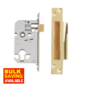 Securefast Euro Cylinder Sashlock Polished Brass 2½