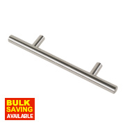 Rod Handle Polished Chrome 96mm