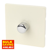 Varilight White Choc 1-Gang 1 /2-Way Push 1 x 400W Dimmer