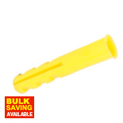 Rawlplug Plastic Plugs Yellow 3-4.5mm Pack of 100