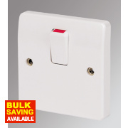 MK 1-Gang 20A DP Switch White