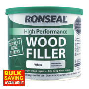 Ronseal High Performance Wood Filler White 550g