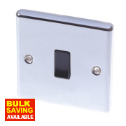 LAP 1-Gang 2-Way 10AX Light Switch Polished Chrome