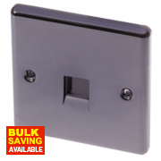 LAP 1-Gang Slave Telephone Socket Black Nickel