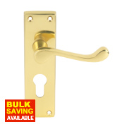 Carlisle Brass Victorian Scroll Lever Door Handles Pack Polished Brass