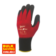 Skytec Beta 1 Beta 1 Nylon Nitrile Gloves Red Large