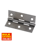 Steel Fixed Pin Hinges Self-Colour 75 x 51mm Pack of 20