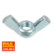 Wing Nuts BZP Steel M5 10 Pack