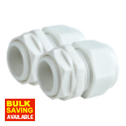 Tower Male Comp Gland White 20mm Pack of 2