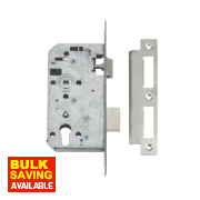 Union 72mm Din Euro Cylinder Mortice Lock Stainless Steel 3½