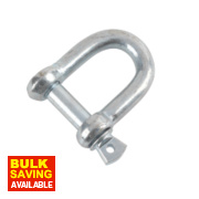 Hardware Solutions D-Shackle M10 Zinc-Plated Pack of 10
