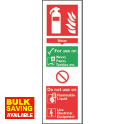 Nite Glo Water Extinguisher Sign 300 x 100mm