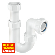 McAlpine Adjustable Inlet Tubular 'P' Trap 40mm White