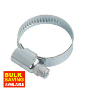 Blue Zinc-Plated Hose Clips 20-32mm 10 Pack