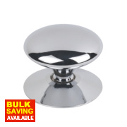 Traditional Victorian Cabinet Door Knob Polished Chrome 38mm Pack of 5