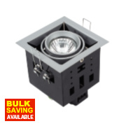 Halolite Multiple Fitting Points Satin Silver 1-Light Spotlight 240V