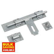 Heavy Duty Lockable Pad Bolt Galvanised 410mm