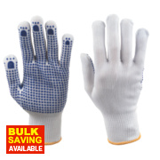 Keep Safe Polka Dot Picking Gloves White/Blue Large