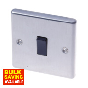 LAP 1-Gang 2-Way 10AX Light Switch Stainless Steel