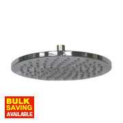 Moretti Fixed Ultra Slim Round Shower Head Chrome 200 x 65mm