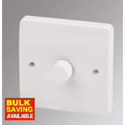 MK Logic Plus 1-Gang 2-Way Dimmer Switch Mains/Low Voltage 400W White