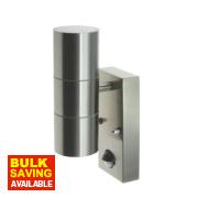 LAP GL-CIL26APIR Stainless Steel Up & Down Wall Light & PIR 35W
