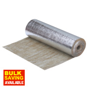 Duralay Premier Wood & Laminate Flooring Underlay 3mm 10m² Silver / Brown