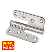 Lift-Off Hinge Polished Stainless Steel Right-Hand 102 x 89mm Pack of 2