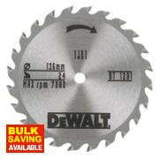 DeWalt 136 x 10mm 24T TCT Circular Saw Blade